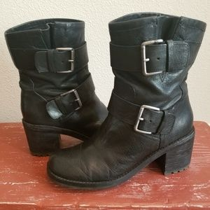 "Sam Edelman Leather ""Troy"" Moto Booties"